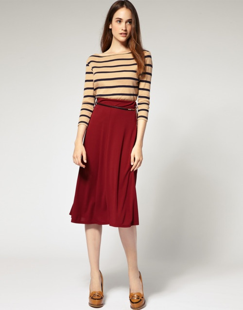 mid length skirt fall fashion attire office clothing woman 2012